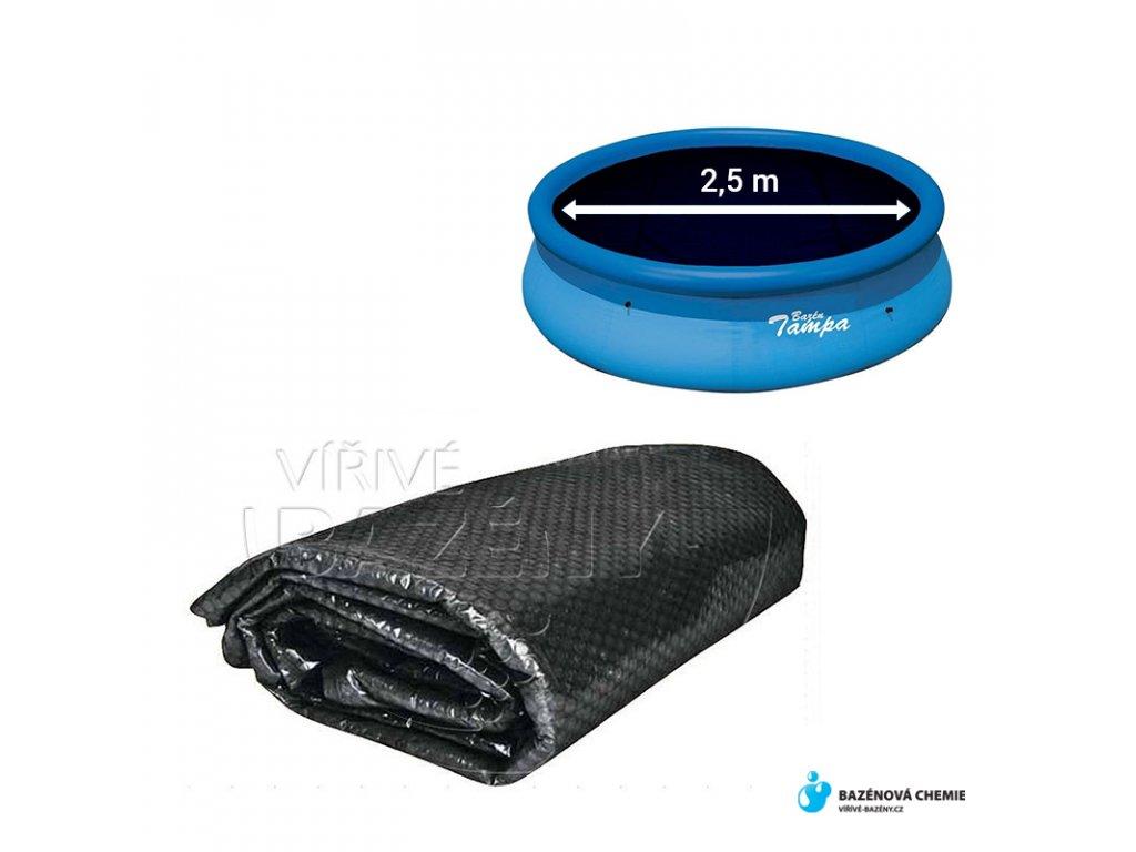Solární folie na bazén černá - kruh 2,5m ( na nafukovací bazény 3,05m)