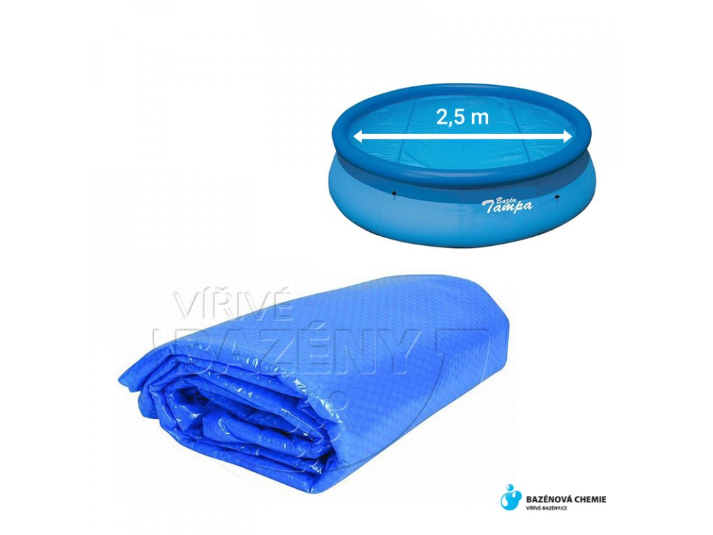 Solární plachta na bazén - kruh 2,5m (na nafukovací bazény 3,05m)