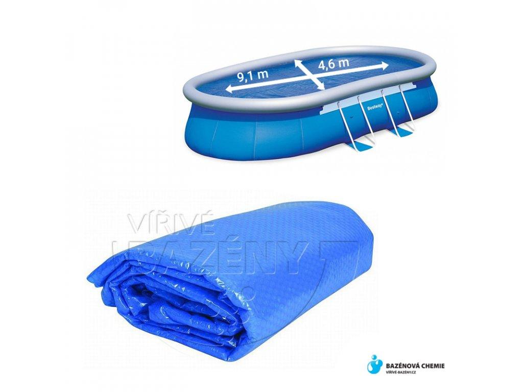 Solární plachta na bazén 9,1 x 4,6m (oválná)