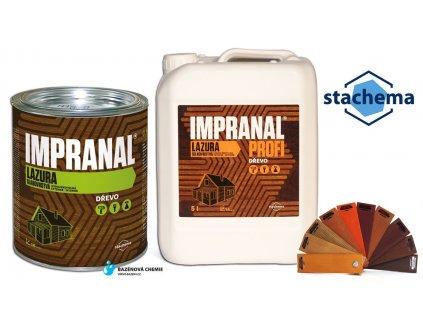 Impranal Profi - lazurovací lak na dřevo silnovrstvý - eben 2,5 lt