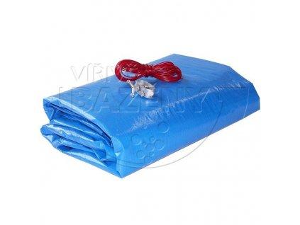 Krycí plachta na bazén zazimovací  - kruh 6,8m ( na bazén 5,5 m) 200 g/m2 modrá