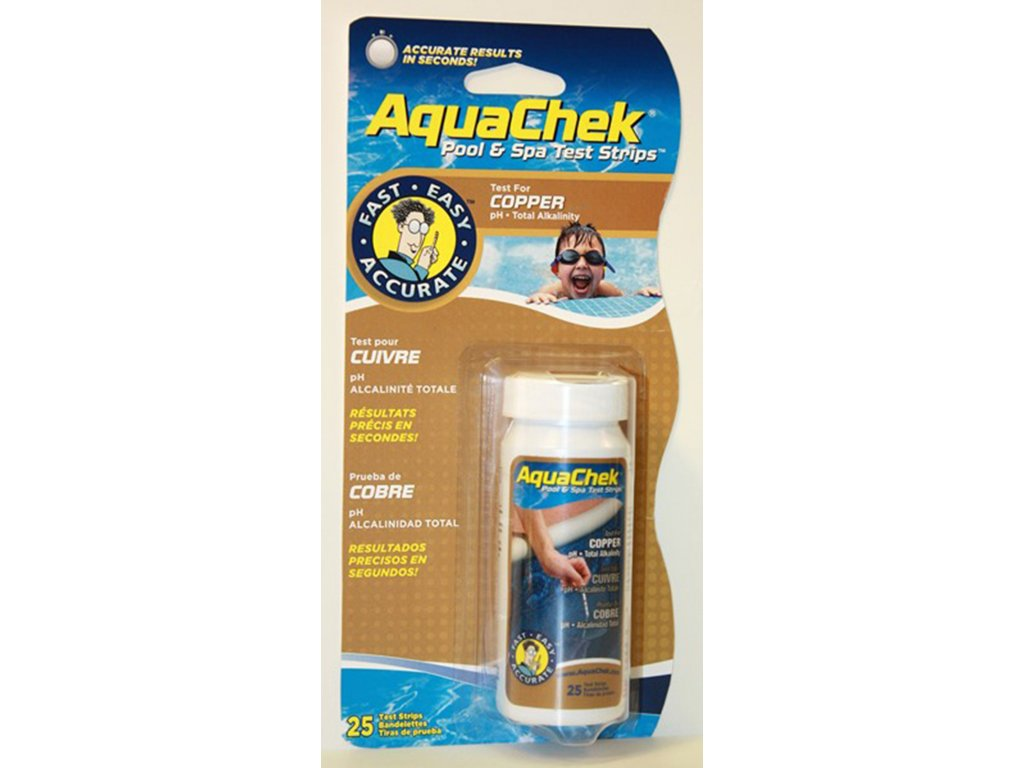 AquaChek testovaci prouzky tester 3v1 med