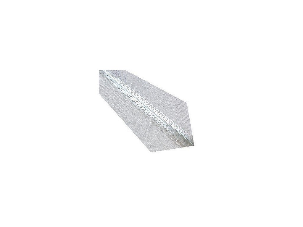 Rohová lišta hliníková s tkaninou 100x100 x 2,5m kombi AL