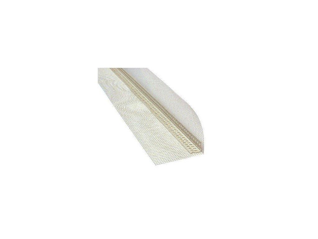 Rohová lišta PVC s tkaninou kombi 2,5 m (10x10)