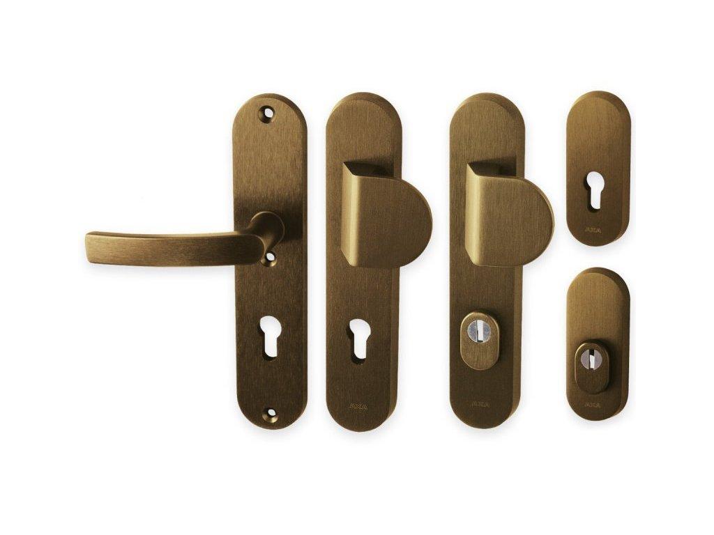 Bezpečnostní klika LINIA BETA hliníková bronz