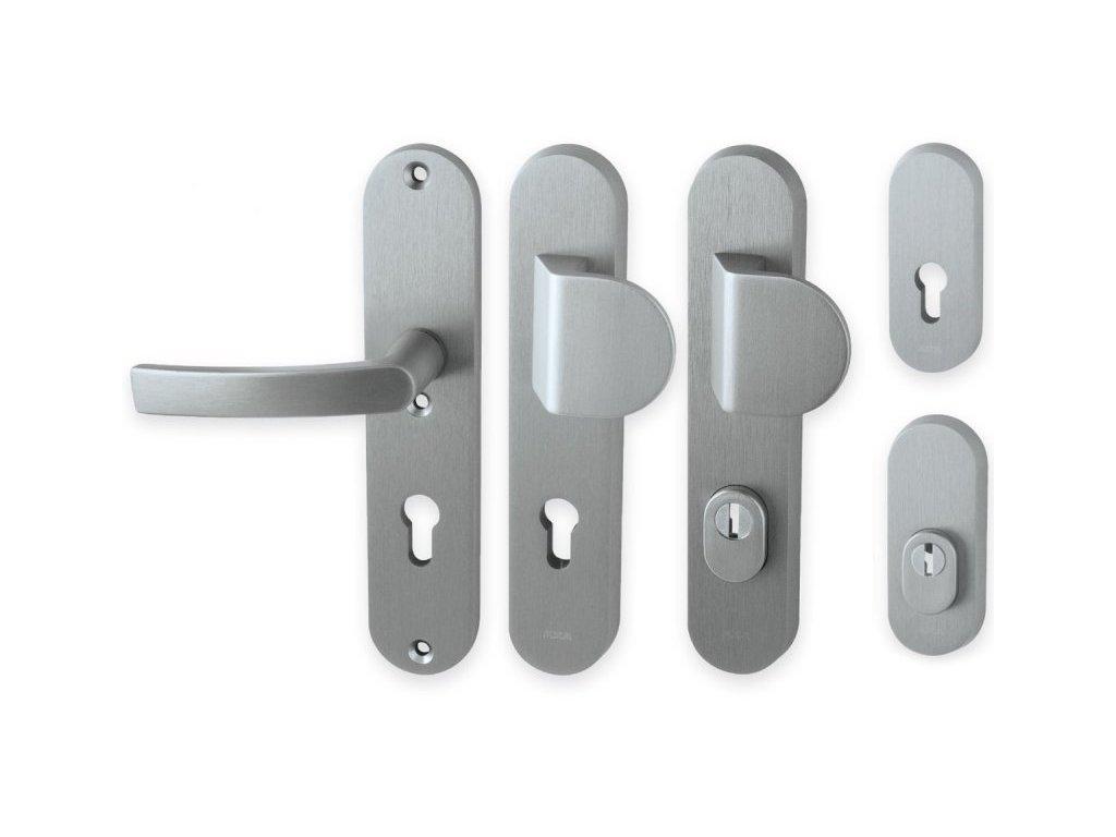 Bezpečnostní klika LINIA BETA hliníková INOX