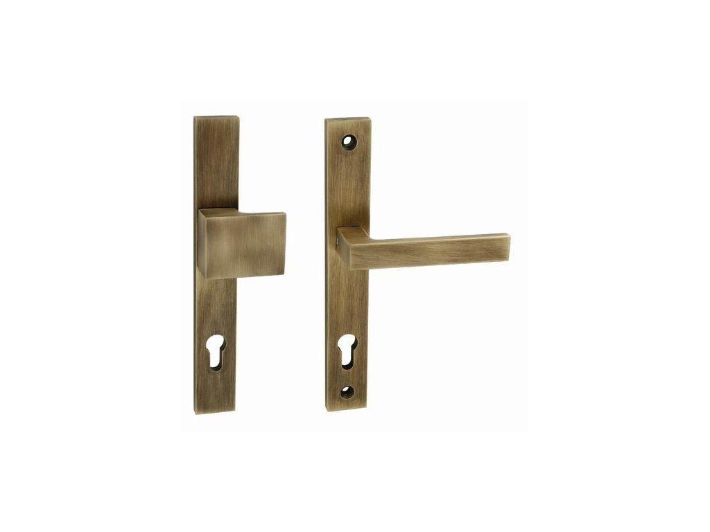 Bezpečnostní klika SALVO bronz ochranné kování