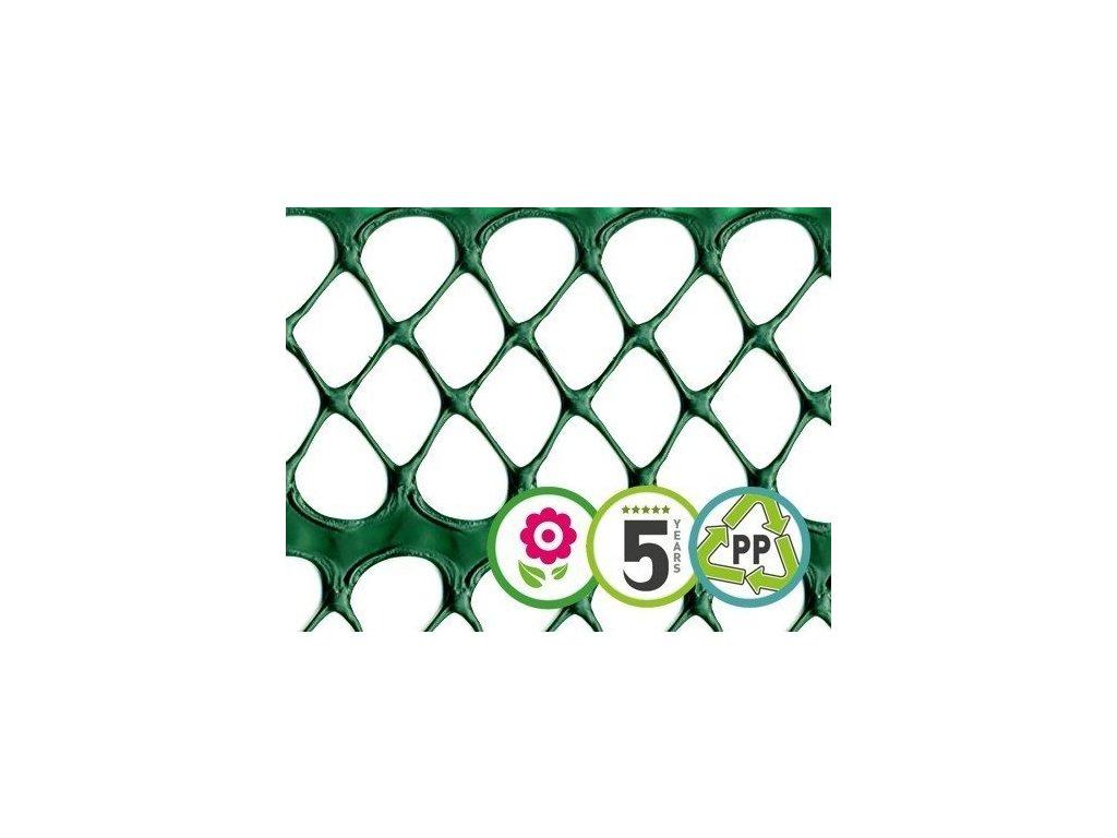 Dekorační plastový plůtek FLORET 0,4 x 5 m ochranný