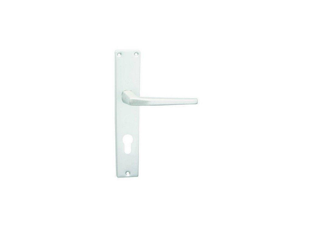 Dveřní kování UNIVERSAL kliky stříbrný elox Klika levá/koule 72 mm COBRA Výprodej
