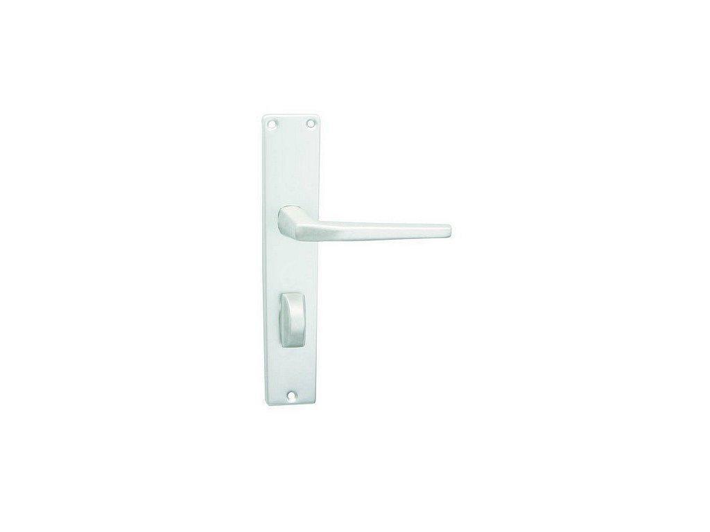 Dveřní kování UNIVERSAL kliky stříbrný elox WC sada 72 mm COBRA Výprodej