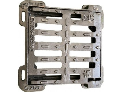 Rošt s rámem litinový rozměr 550 x 550 mm nosnost 25t k revizní šachtě