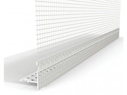 Okenní profil PVC s tkaninou 2m s nepřiznanou okapničkou
