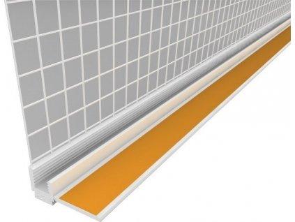 Začišťující okenní APU lišta s tkaninou 9 mm profil k oknu 2,4 m