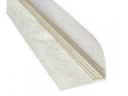 Rohová lišta PVC s tkaninou kombi 2 m (10x10)