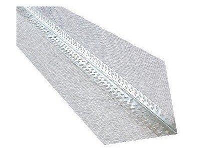 Rohová lišta hliníková s tkaninou 100x100 x 2m kombi AL