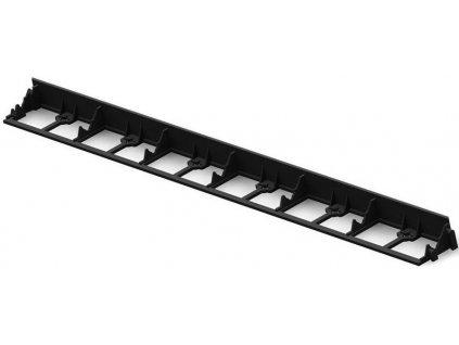 Plastový obrubník neviditelný 45  / 1 m černý TYP2