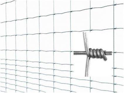 Pletivo pozinkované uzlové LIGHT  v. 1,6m vodorovný drát 14 (bal 50m)