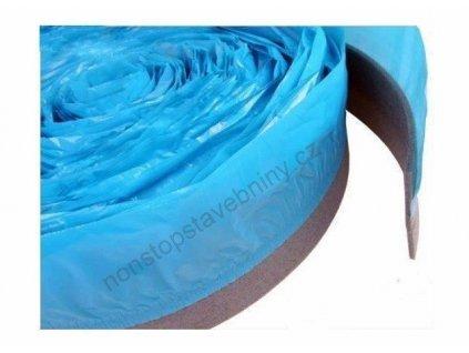 Okrajový pás s fólií 10 x 80 mm MIRELON dilatační pásek 50m