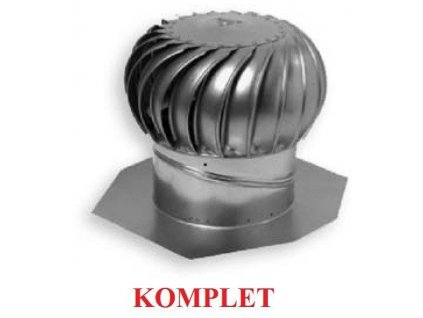 Ventilační turbína hliníková 14 přírodní 356 mm AIR HAWK (komplet)