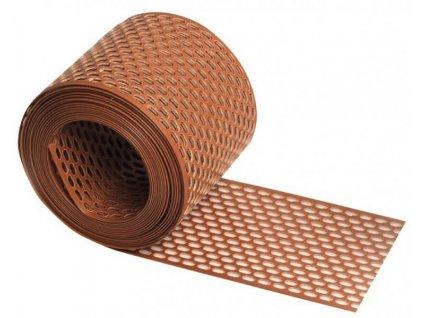 Ochranný plastový pás proti ptákům větrací PVC 100mm - červený