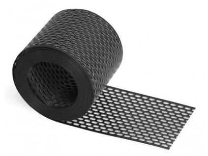 Ochranný plastový pás proti ptákům větrací PVC 100mm - černý