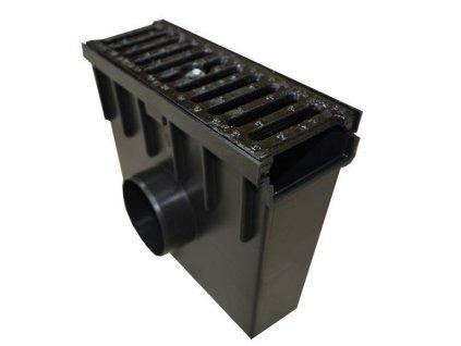 Sběrná vpusť 105 PVC litinová mříž 12,5t (330x130x300)