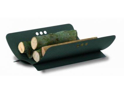 Koš na dřevo ke krbu antracit 20 x 50 x 40 cm
