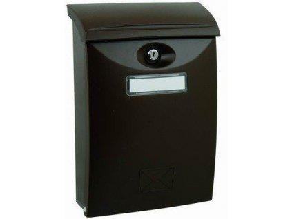 Poštovní schránka hnědá plastová nástěnná 34x24x9cm