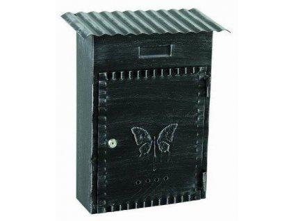 Kovaná poštovní schránka černá patina 33x27x8cm