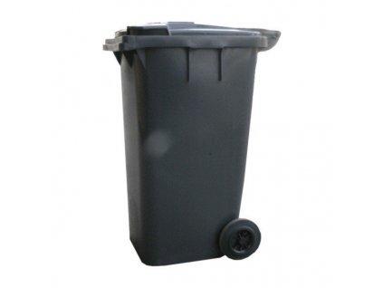Plastová popelnice 120 litrů PVC hranatá černá