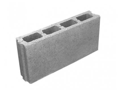 Příčkovka betonová tvárnice 50 x 7 x 23,8 cm HRONEK