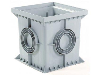 Revizní šachta 400 x 400 mm šedá (odtok 100-250mm)
