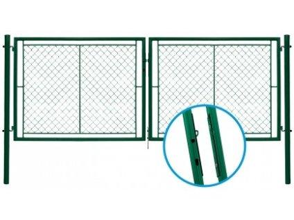 Brána dvoukřídlá zahradní IDEAL II 3037 x 1450 mm