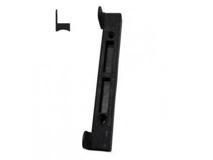 Doraz branky brány na kulatý profil plastový černý Pilecký