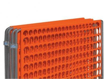 Přenosná modulární bariéra LIMIT 1 x 4 m dočasná zábrana