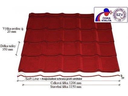 Plechová krytina SATJAM TREND červená taška 350 mm lesklá