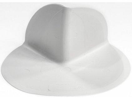Roh vnější vlnovec PVC - světlé šedý