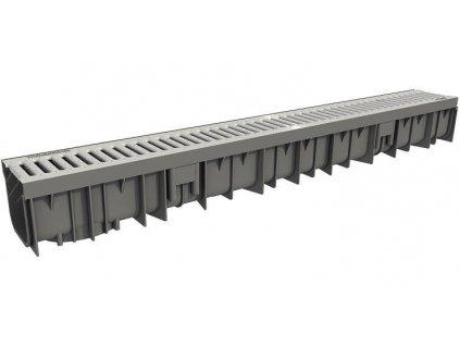 Odvodňovací žlaby plastové Pozink mříž 1,5 t (1000 x 120 x 110 mm) Wavedrain