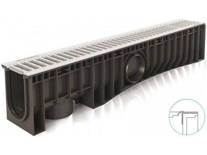 Odvodňovací žlaby plastové NEO 150H Pozink mříž 1,5 t (1000 x 200 x 185 mm)