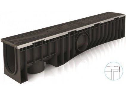 Odvodňovací žlaby plastové NEOMAX 100H litinová mříž 25 t (1000 x 154 x 191 mm)