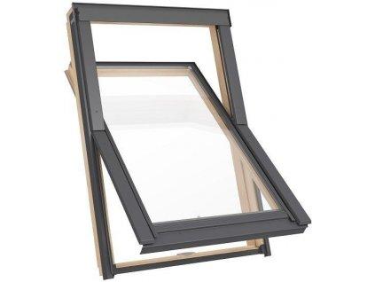 Dřevěné střešní okno RoofLITE Solid Pine - 66x118cm
