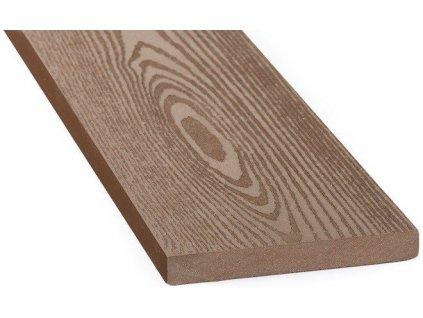 Dřevo plastové plotovky WPC 120 x 15 x 1000 mm hnědé dřevo