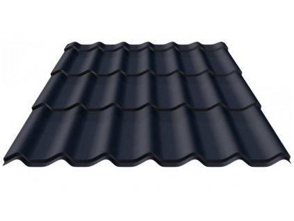 Plechová střešní krytina PROFI Alfa Zefir RAL 9005 lesklá černá