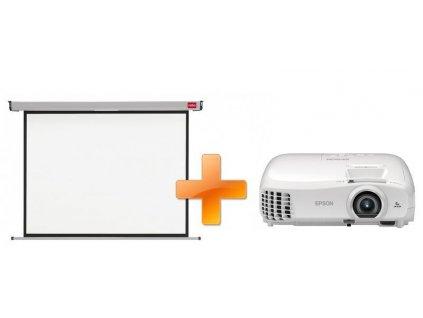 Epson EH-TW5300 + plátno Nobo 200 x 135