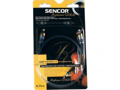 Sencor digitální optický kabel, Toslink - Toslink, zlatý 24K