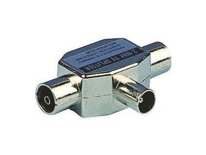 Sencor koaxiální dvoucestný slučovač, TV (1M-2F), nikl