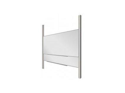 ekoTAB 2 keramické magnetické tabule (bílá) + Pylon AL dvojitý + odkládací polička 100 cm (kov)
