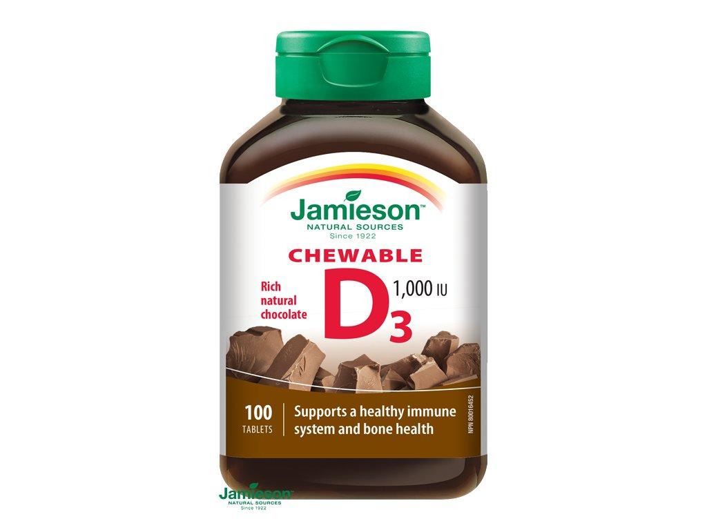 1534 jamieson vitamin d3 1000 iu tablety na cmulanie s prichutou cokolady 100tbl