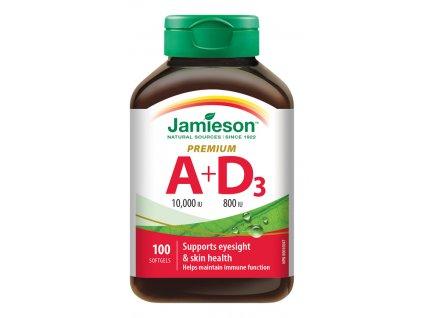 4908 jamieson vitamin a a d premium 10000 iu 800 iu 100cps