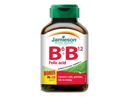 1723 jamieson vitaminy b6 b12 a kyselina listova 110tbl